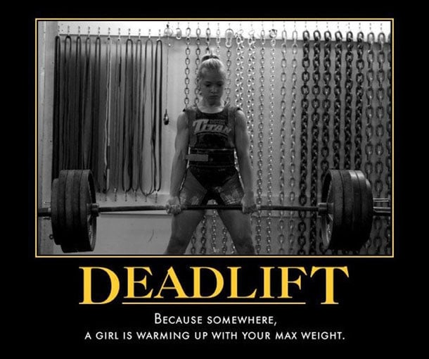 Deadlifting Meme Girl