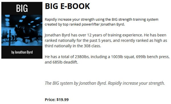 jbbig Product Review: BIG by Jonathan Byrd