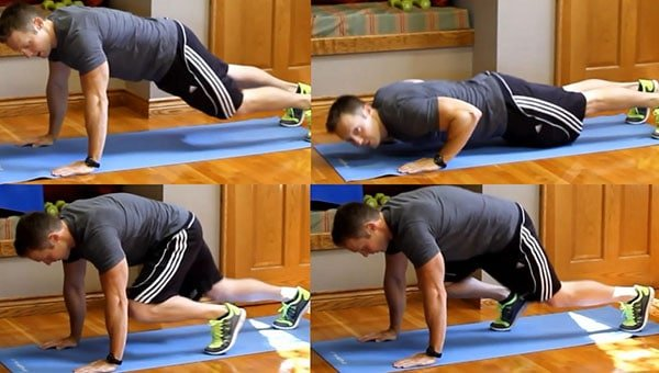 Push Up Knee Tuck Core Workout