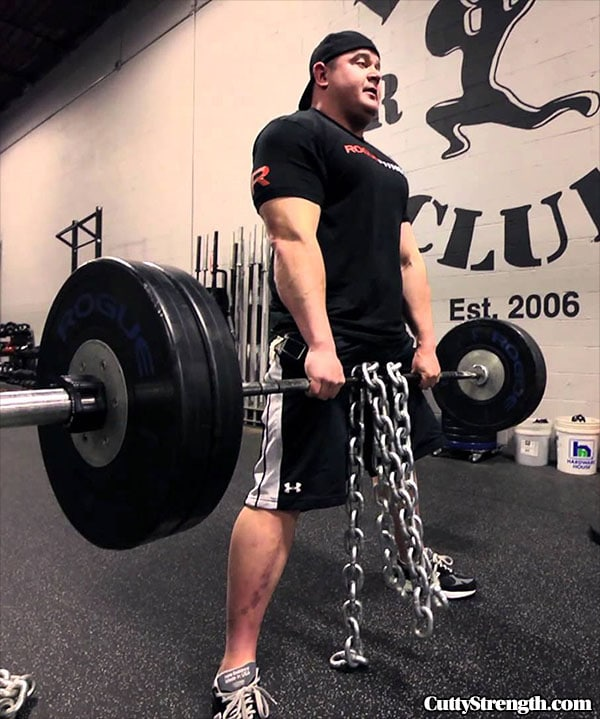 Mark Bell Sumo Deadlift With Chains