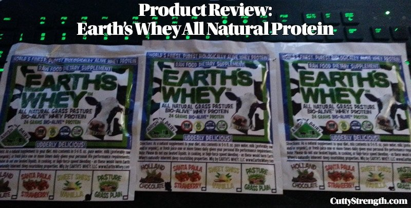 Product Review: Earth's Whey All Natural Protein Supplement