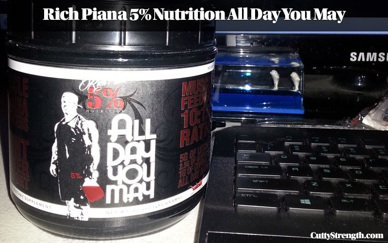 Product review rich piana 5 nutrition all day you may