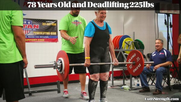 Shirley Webb Deadlifting
