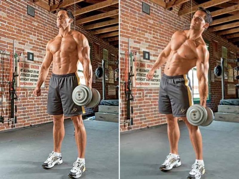 weighted side bends